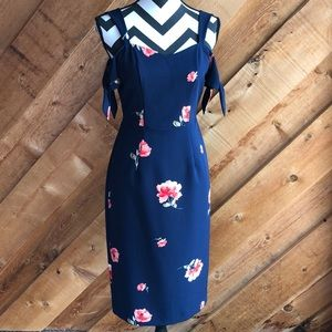 Beyond by Ashley Graham Navy Floral Dress Size 4